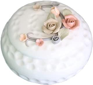 SOCOSY Royal Style Rose Flower Carved Jewelry Box Trinket Box Ring Holder Ring Box Decorative Crafts Wedding Engagement Gift