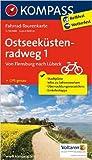 Ostseeküstenradweg 1, Von Flensburg nach Lübeck: Fahrrad-Tourenkarte. GPS-genau. 1:50000. (KOMPASS-Fahrrad-Tourenkarten) ( Mai 2014 )