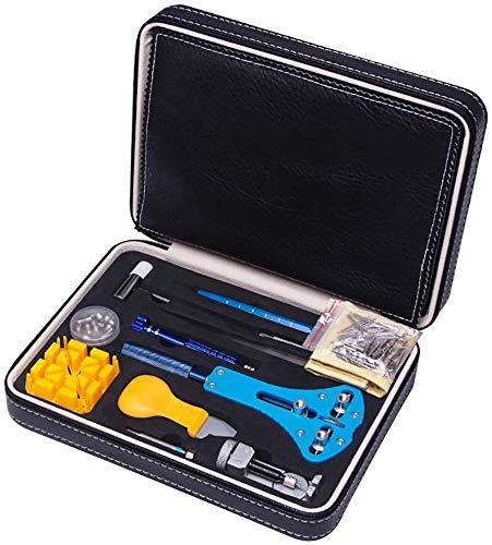 HJJH Sehen Sie Reparatursatz, Reparatursatz UhrWatch Werkzeuge, für Batterie-Ersatzband Tool Link-Remover mit Tragetasche