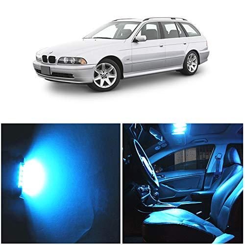WLJH Lot de 20 ampoules à puce 2835 super lumineuses Canbus sans erreur pour éclairage intérieur de voiture pour série 5 Touring – Kit d'éclairage intérieur LED E39 525i 528i 540i