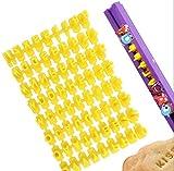 Set di 72 timbri con lettere dell'alfabeto, stampini fai da te per biscotti, biscotti, tor...