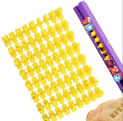 72-teiliges Alphabet-Stempel-Set für Kekse, Plätzchen, Kuchen, Dekoration, Backwerkzeug, Küchen-Handwerk, Nachrichtenmacher