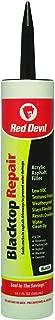 Red Devil 63712 0637 Caulk Black 10.1 oz, Case of 12 Blacktop Driveway Repair, Pack, Piece