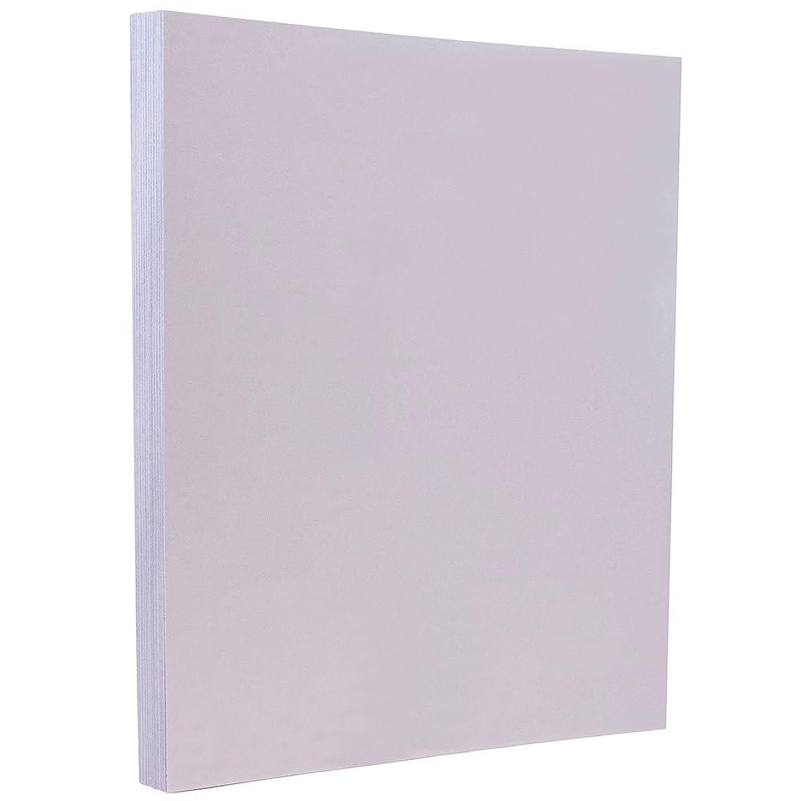 JAM PAPER Vellum Bristol 67lb Cardstock - 8.5 x 11 Coverstock - Orchid Light Purple - 50 Sheets/Pack