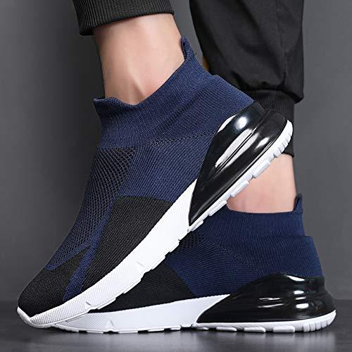 WOERJFBSK Zapatillas Casual para Zapatos De Hombre Zapatos Cómodos De Moda para Hombre Zapatos Casuales para Hombre Zapatillas para Caminar Zapatos De Ocio Negro