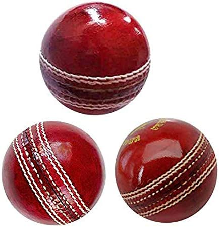 AnNafi Cricket Rubber Soft Balls for Practice A Grade Handstitched RED Senior Official 3 product image