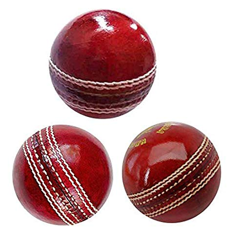 AnNafi Cricket Rubber Soft Balls for Practice A Grade Handstitched RED  Senior Official (3)