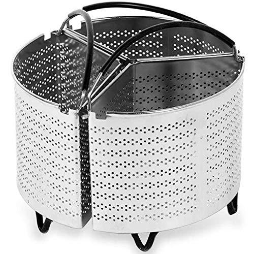 3-piece split stoommandje, geschikt snelkookpan accessoires en andere snelkookpannen, kunnen filterelementen worden gebruikt voor 3-in-1 koken,20cm