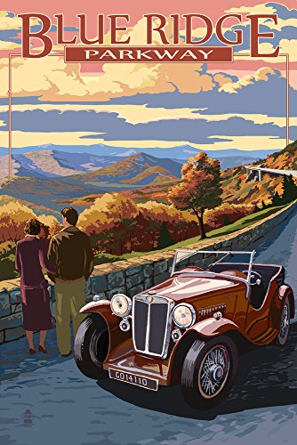 Blue Ridge Parkway, Virginia, Viaduct Scene at Sunset (12x18 Art Print, Wall Decor Travel Poster)