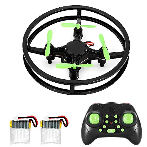 RC Mini Drone Quadcopter, 2.4GHz 4-Axis Upgraded Nano Pocket Quad Copter, Super Durable Remote Control Micro Helicopter Kit for Kid & Beginner, 360 Degree Stunt Flip Flying & Racing, 2 Bonus Batteries
