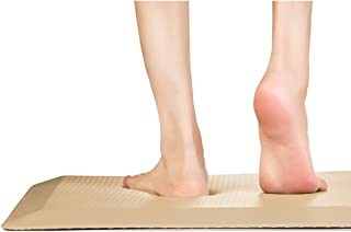 Euleven Anti-Fatigue Floor Mat 48x20 Extra Large and Thick | Phthalate Free, Ergonomical, Waterproof | Relieves Back and Foot Pain | Kitchen, Laundry and Office Standing Desk Mats, Beige