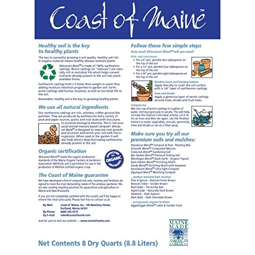 Coast of Maine Organic Earthworm Castings