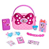 Disney Junior Minnie Happy Helpers Bag Set, 9 Piece Pretend Play Purse with Lights and Sounds Cell Phone, Sunglasses, and Accessories by Just Play