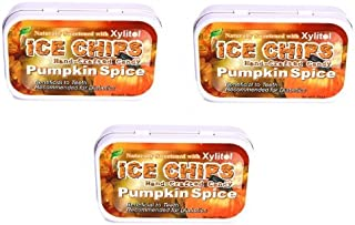 Ice Chips Pumpkin Spice Xylitol Mints Pack of 3 - 1.76 oz Tins