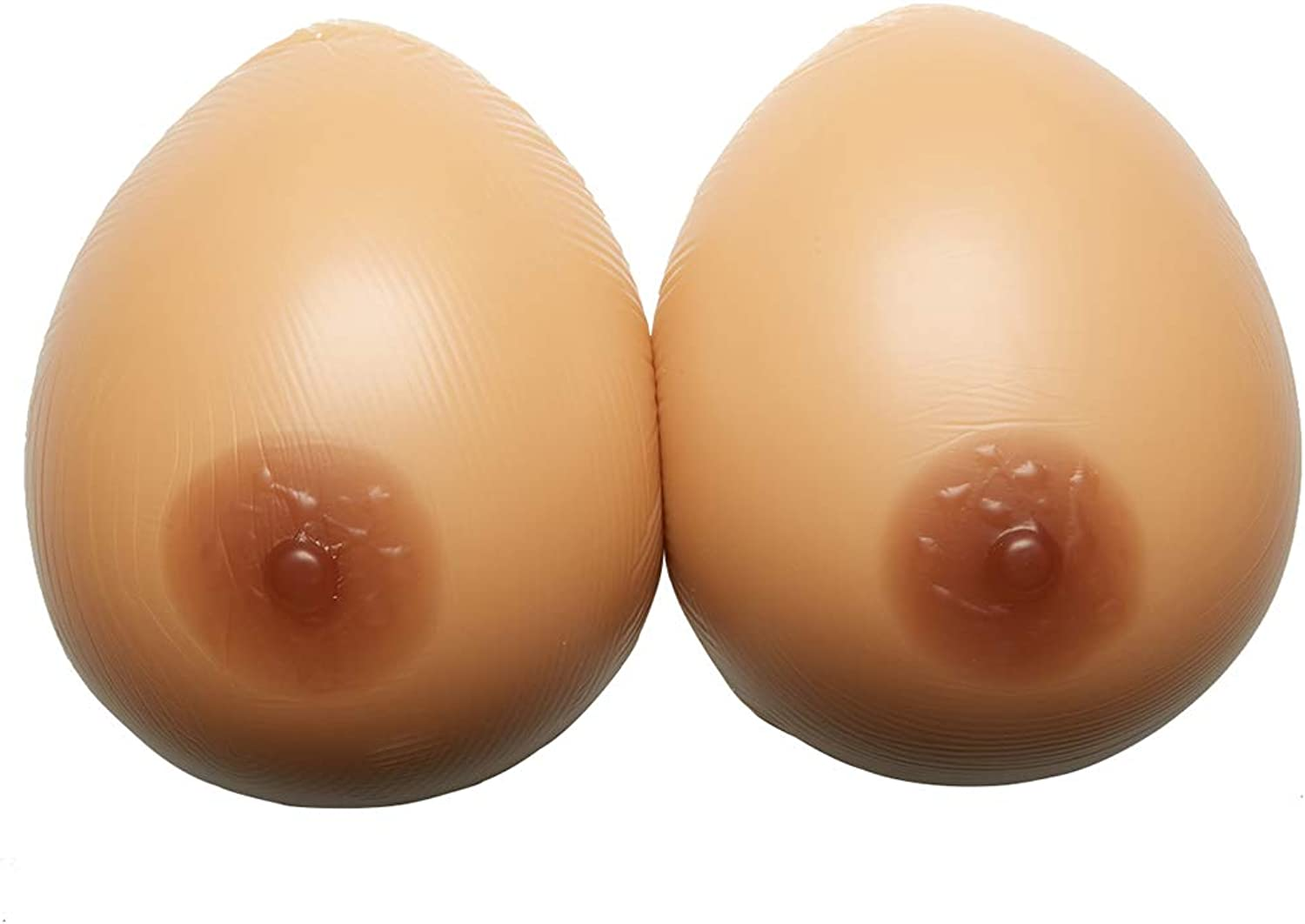1 Pair Waterdrop Silicone Breast Forms Chest Enhancer for Cosplay Cross Dresser