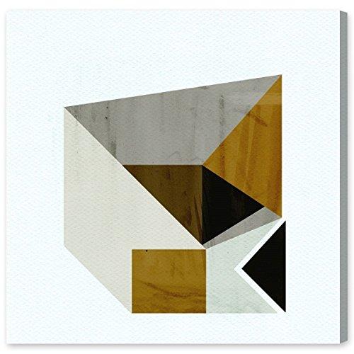 Die Oliver Gal Künstler CO. Senf Geo Kunstdruck auf Leinwand, 16x 40,6cm, Mehrfarbig