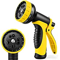 UpdateClassic Multi-function Garden Hose Nozzle Equipped with 10 adjustable watering modes (Yellow)