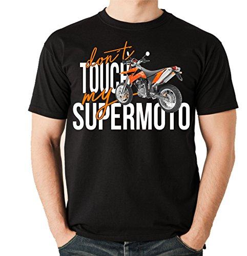 Siviwonder Unisex T-Shirt - Supermoto SM Bike - Dont Touch My - Motorrad Fun schwarz L