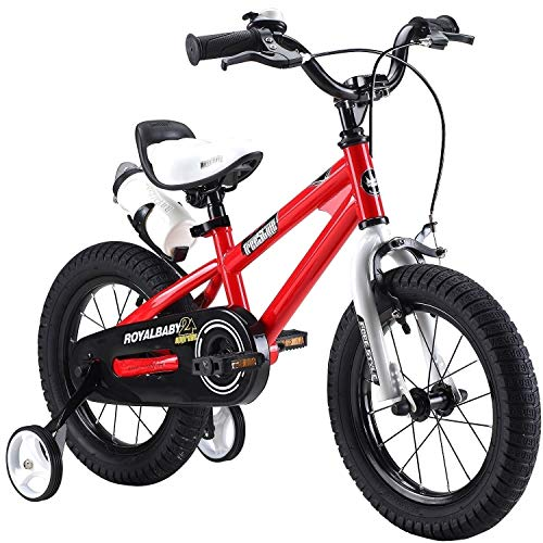"""Royal Baby Unisex Youth Freestyle boy's girl's stabilisers Kids Children Child Bike Bicycle, red, 18"""""""