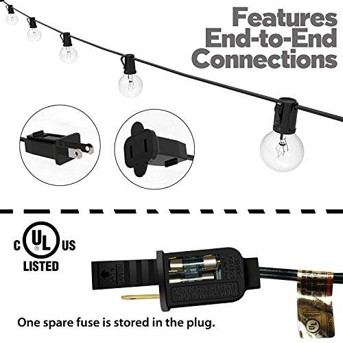 Lampat 25Ft G40 Globe String Lights