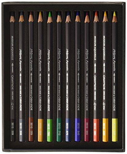 Caran D'ache Museum Aquarelle Pencil Sets Museum Intro set of 12 colours (3510.312) Photo #3