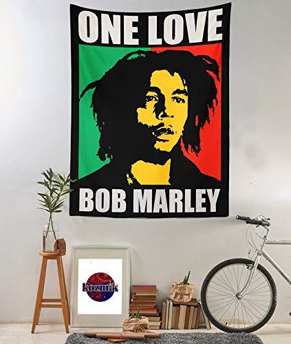 Bob Marley - Tapiz de pared con diseño de One Love (150 x 110 cm)