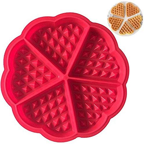 Drawihi Mini moule à gaufres en forme de cœur en silicone pour gâteaux