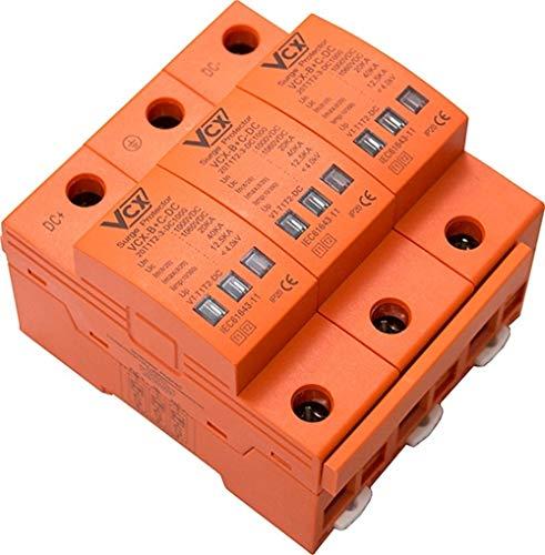 Überspannungsschutz 1000V 12,5kA Solarlange Blitzschutz für DC Photovoltaik B+c T1+T2 3P