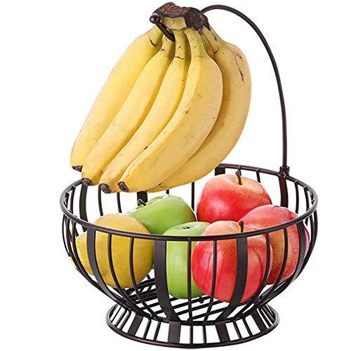 Frutero Fruto de Metales de Placas de la Vendimia Almacenamiento Cesta Cesta de Alambre de árbol de Frutas Cuenco con el plátano Percha Fruteros de Cocina
