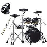 Roland VAD306 V-Drums - Batería electrónica de diseño acústico (incluye auriculares Keepdrum y baquetas
