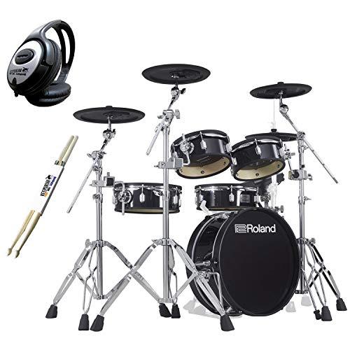Roland VAD306 V-Drums Acoustic Design - Set di cuffie Keepdrum + bacchette per batteria