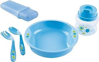 Kit Alimentação Viagem Decorado Azul, Milla baby, Azul