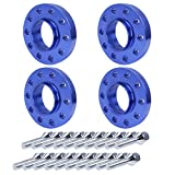 BANG4BUCK 5x120 Staggered Wheel Spacers Kit 15mm(2pcs) & 20mm(2pcs) 5-Lug Hub Center 72.56mm with M12x1.5 Extended Bolts for 325i 325xi 328i 328xI 330i (Blue)