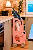 Torre de Aprendizaje, Escritorio y Taburete Montessori (Rosa)