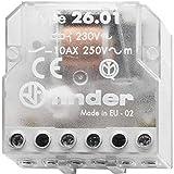 e indicador mec/ánico29 x 13 x 33 cm AgNi 25 x 05 mm Mini-rel/é industrial enchufable 2 contactos 8 A 24 V con pulsador de prueba doble LED transparente color naranja CC DC no polarizado Finder 465290240074