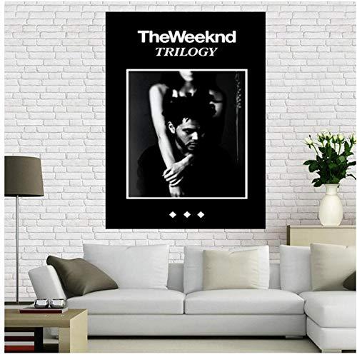 Vscdye The Weeknd Trilogy MusicRapper Art Poster Stampa su Tela Soggiorno Immagine Home Decor-20x30 in Nessuna Cornice