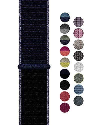 Naomo Compatibile con Watch Cinturino 42mm/44mm, Nylon Cinturini di Ricambio per Series 5/Series 4/Series 3/Series 2/Series 1 (42mm/44mm, Nylon Blu Notte)