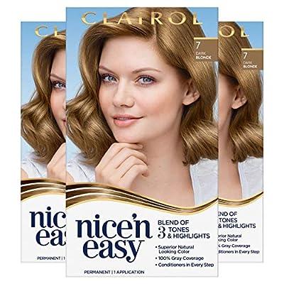 Clairol Nice'n Easy Original Permanent Hair Color, 7 Natural Dark Blonde, 3 Count