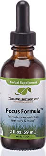 Sponsored Ad - Native Remedies Focus Formula - Herbal Supplement, 2fl Oz (59ML)