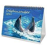 Delphinzauber Calendario de mesa DIN A5 para 2021 delfín delfín set de regalo: además 1 tarjeta de felicitación y 1 tarjeta de Navidad – Seelenzauber