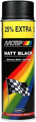 Motip 514006 Rallye Laquer/Peinture mattes-500ml, Noir Mattes, 500 ML