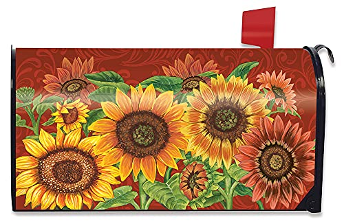 Briarwood Lane Colorful Sunflowers Fall Magnetic Mailbox Cover Welcome Autumn Standard