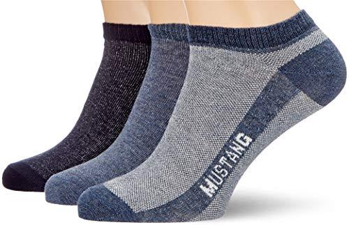 Mustang Socks Herren MU33008 Füßlinge, Rot (Denim Mix 5502), 39/42 (3er Pack)