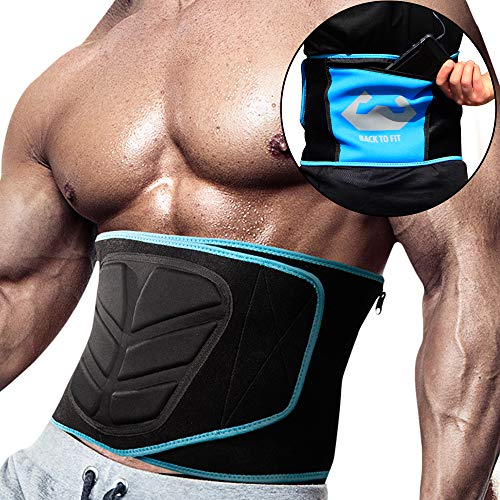 Waist Trimmer for men and women for workout and sweat ABS (M) Blue