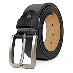 """✿ Mens Belts Big and Tall - This belt suits for waist size from 28""""-64"""". The belts is designed for Big and Tall men with large waist. It is not easy to break because it is very wide and thick. ✿ Real Material-The Strap of this Belt is made of Genuine..."""