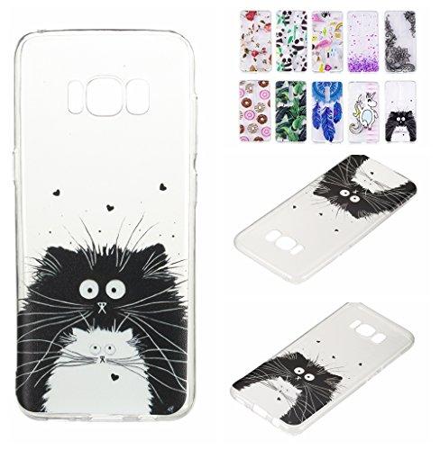 E-Flamingo Funda Samsung Galaxy S8 Plus Totoro Flexible Silicona Carcasa Transparente Clear Case CoverCreativa Diseño Protectora Ultra Fina Cubierta Cute para Chicas