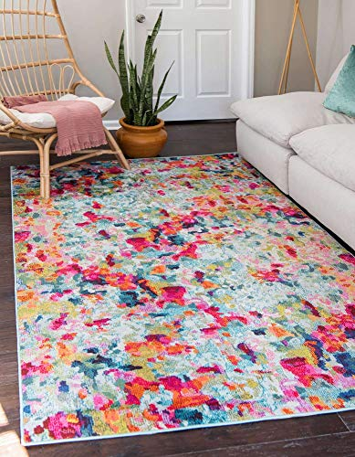 Unique Loom Chromatic Collection Modern Abstract Rustic Area Rug