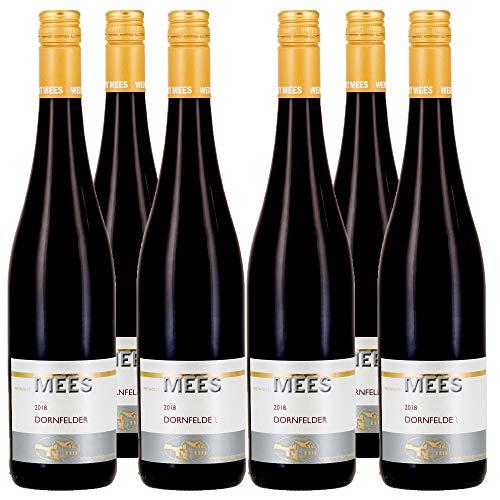 Weingut Mees DORNFELDER ROTWEIN TROCKEN 2018 Prämiert Wein Deutschland Nahe Paket (6 x 750 ml) 100% Dornfelder