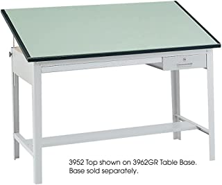 Safco 3952 Precision Drafting Table Top, Rectangular, 60w x 37-1/2d, Green