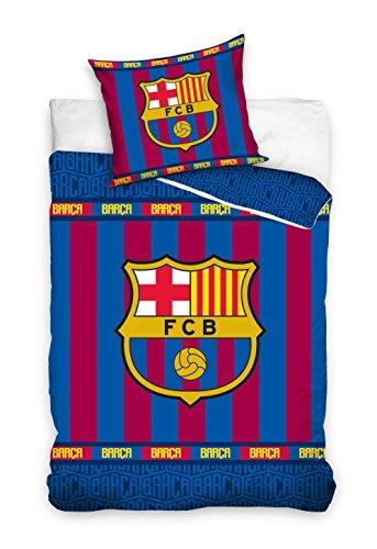 FC Barcelona Parure de lit Housse de Couette réversible 100%